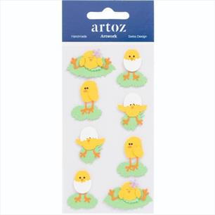 Artoz Easter Chick Stickers