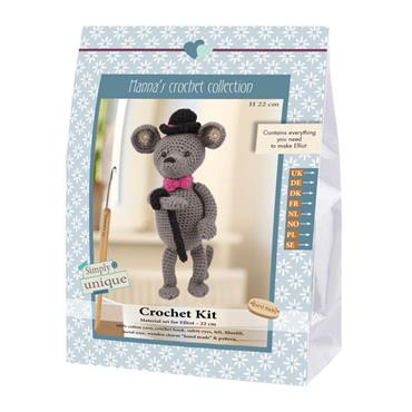 CROCHET KITS - ELLIOT THE GENTLEMAN MOUSE Detail Page