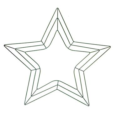 "HC1719 18"" GREEN METAL STAR FORM Detail Page"