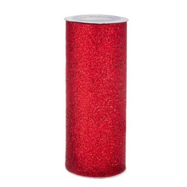 HC3003 TULLE -  6INCH X 7.31MTS - RED Detail Page