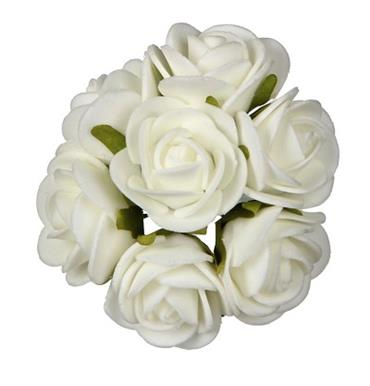 HC311/21 3CM FOAM ROSE - WHITE Detail Page