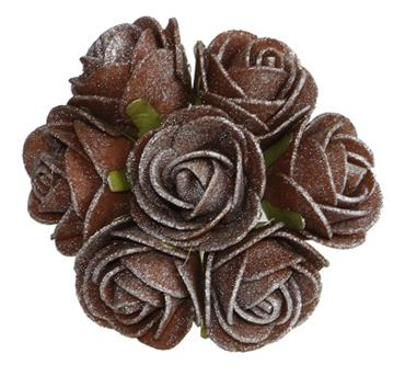 HC311/94 3CM FOAM ROSE - CHOCOLATE Detail Page