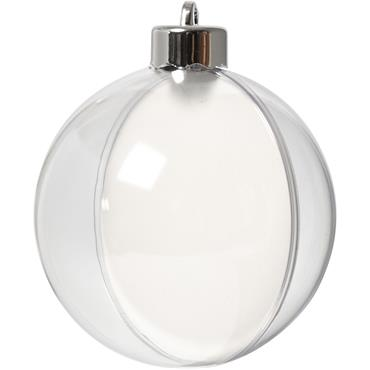 HC52141 8CM 2 PART HANGING BAUBLE Detail Page