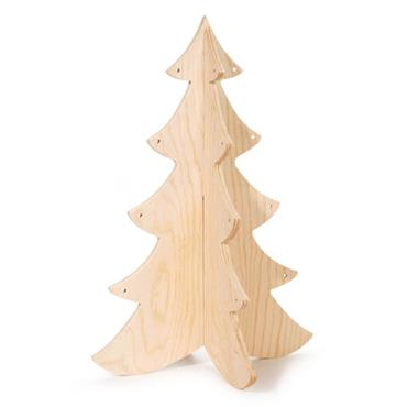 "HC9191/178 3D WOODEN XMAS TREE 12 X 8.25"" Detail Page"