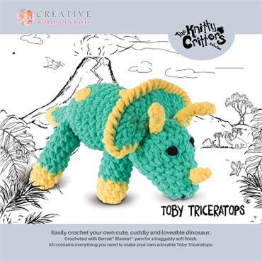 KC565 TOBY TRICERATOPS - KNITTY CRITTER KIT Detail Page