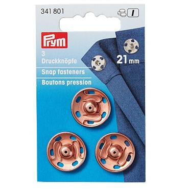 P341801 SEW ON SNAP FASTENER BRASS - 21MM ROSE GOLD Detail Page