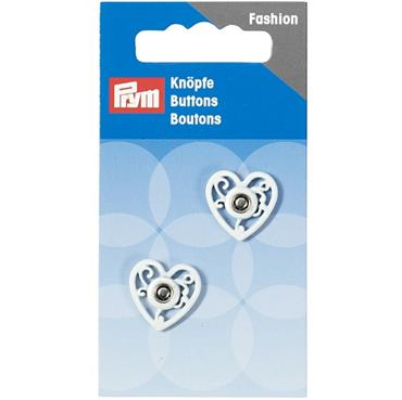 P341936 SEW-ON SNAP FASTENER HEART 18MM WHITE Detail Page