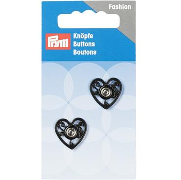 P341937 SEW-ON SNAP FASTENERS HEART 18MM BLACK Detail Page