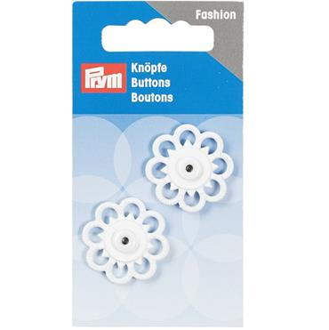 P341938 SEW-ON SNAP FASTENER FLOWER 25MM WHITE Detail Page
