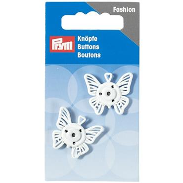 P341940 SEW-ON SNAP FASTENER BUTTERFLY 25MM WHITE Detail Page