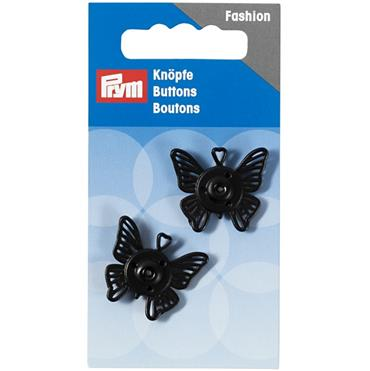 P341941 SEW-ON SNAP FASTENERS BUTTERFLY 25MM BLACK Detail Page