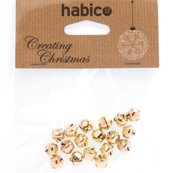 HC7580 10MM GOLD BELLS 18PCS PK 6 Detail Page