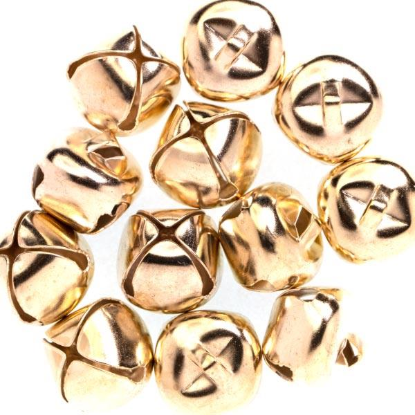 HC7584 15.5MM JINGLE BELLS 12PCS - GOLD Detail Page