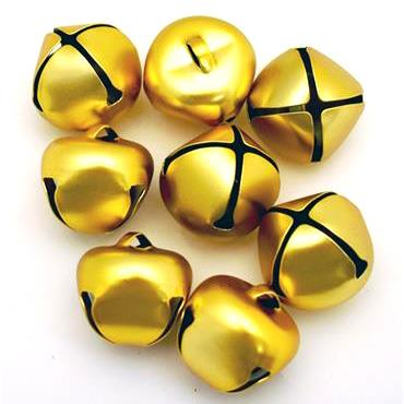 HC7588 25MM JINGLE BELLS 8PCS - MATT GOLD Detail Page