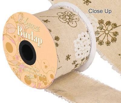 HR21409 70MM BURLAP FRAYED EDGE FLOWER Detail Page