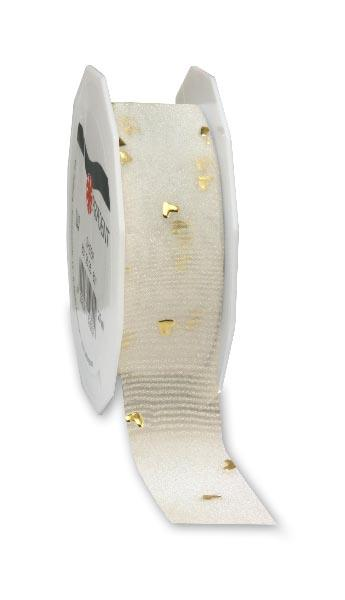 HR433/25 25MM HEART STUD RIBBON - 20MTS Detail Page
