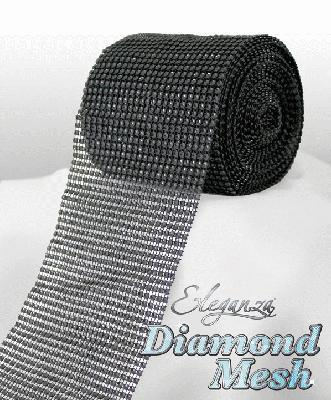 HTR/623 DIAMANTE EFFECT MESH BLACK 9MT Detail Page