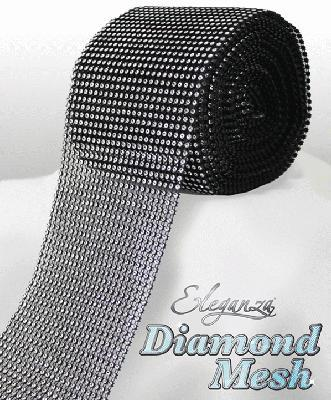 HTR/623 DIAMANTE EFFECT MESH BLK/SILV 9MT Detail Page