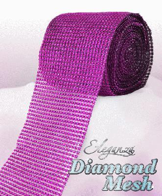 HTR/623 DIAMANTE EFFECT MESH FUCHSIA 9MT Detail Page