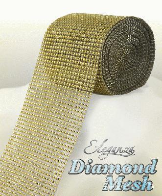 HTR/623 DIAMANTE EFFECT MESH GOLD 9MT Detail Page