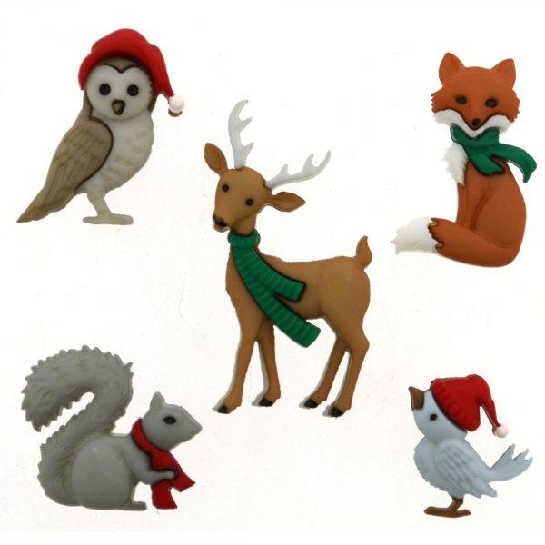 JJX/9500 HOLIDAY WOODLAND CREATURES Detail Page