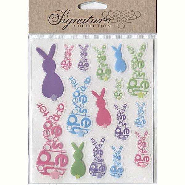 PP1020/890 EASTER STICKER PK OF 6 - BUNNIES Detail Page