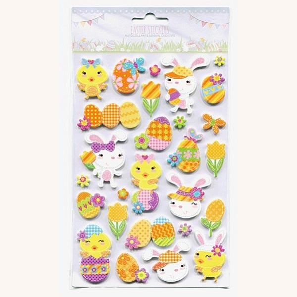 PP1088 EASTER GLITTER STICKERS - ASSTD EASTER 6SHEETS Detail Page
